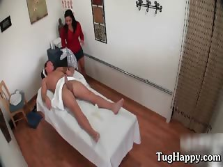 Busty long haired asian babe giving dude part2