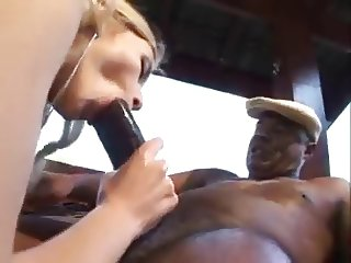 Hot blonde fuckin black old man