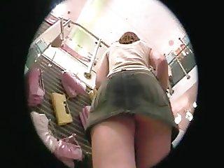 upskirt en tienda