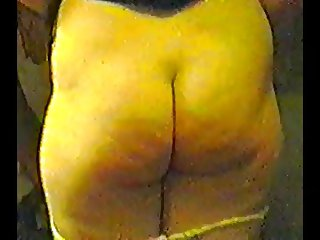 Wife Exposing her bum after losing a bet