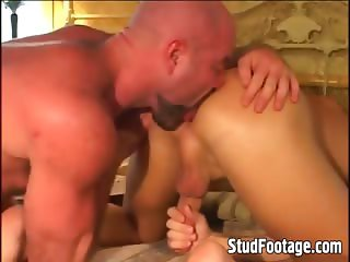 Muscle gay guys in hardcore action