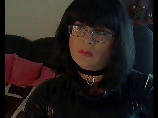 PVC Mistress jerking off