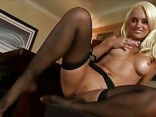 Milf in black stockings