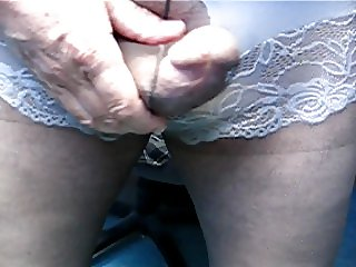 Torn White Panties and Nylon Play