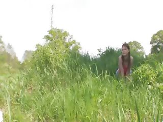 Young couple fucking by the lake