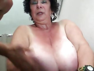 FRENCH BBW 65YO GRANNY OLGA FUCKED BY 2 MEN DP