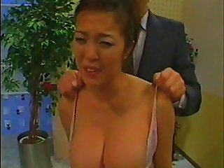 Asian Newswoman groped and tit slapped Full Version