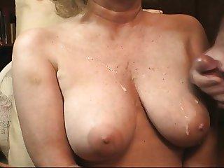 Cum shot on tits