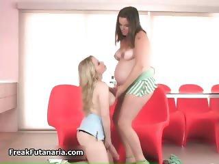 Pregnant brunette babe gets horny part6